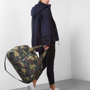 MZ Wallace JIM Travel Weekender Duffle Bag Camo